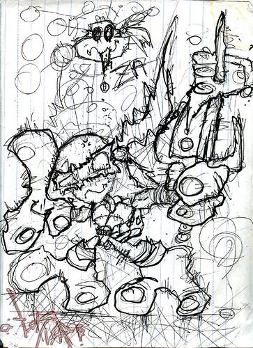 """Raph has a Nice Slice"" ..sketch by tOkKa (( 2003 ))"