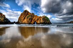 Pfeiffer Beach (Big Sur) - corrected (haglundc) Tags: ocean california reflection beach water coast rocks arch bigsur explore hdr pfeifferbeach d300 sigma1020mm photomatrix