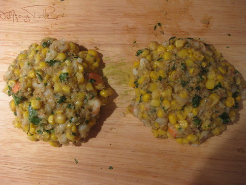 Shrimp and Corn Burgers