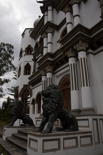 Lions at the main entrance.