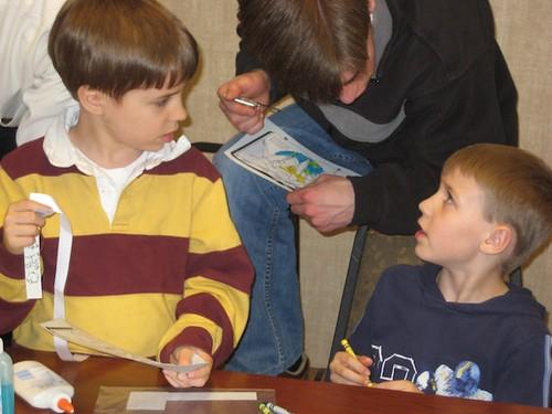 Making friends at Children's Bible Class