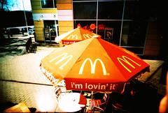 (icono) Tags: street red film lomo xpro lomography crossprocessed wide mcdonalds 35 kiev vivitar kyiv киев uws 100iso agfaprecisact100 vivitarultrawideslim ломография vivitaruws