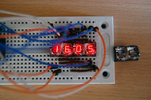 LED 7-Segment Display HP 5082-7414 digital clock
