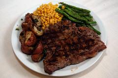 Easter Dinner for one? (churl) Tags: food dinner potatoes corn steak greenbeans porterhouse