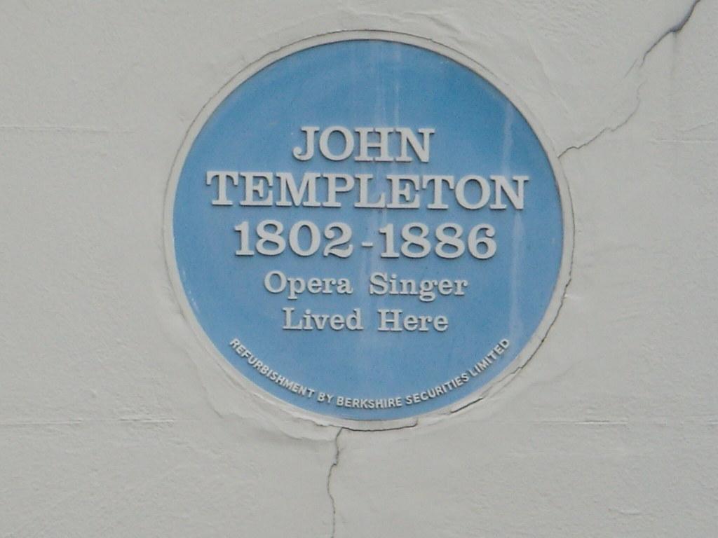 Photo of John Templeton blue plaque