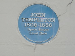 Photo of John Templeton blue plaque