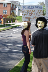 NCanonProtest8 (NCanon) Tags: charlotte northcarolina greensboro scientology wise cult anonymous dianetics able lulz cchr narconon caek efg april2009 projectchanology chanology northcarolinadianetics northcarolinascientology scienotologyprotest april2009globalprotest