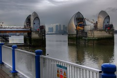 The Wharf Gateway 3 (Father of Spider Cat) Tags: rain thames river environment barrier hdr 113ev