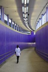 Minimalism 1 (digbyross) Tags: blue subway concrete hongkong ramp tunnel tiles kit minimalism 2009 minimalist mtr shaukeiwan april2009 cathaycameraclub mosmancameraclub