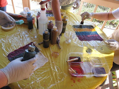 dyeing silk hankies