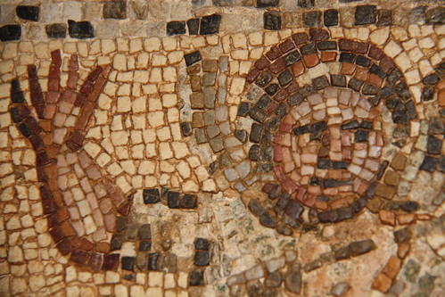 Mosaic high five, Tripoli Museum, Libya