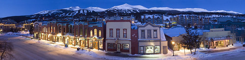 The town of Breckenridge, CO at night.winter town scenic breckenridge colorado adler