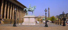 23rd April ~ St George's Day (* RICHARD M) Tags: england horses architecture liverpool buildings europe steps cities statues lamps sculptures scapes limestreet merseyside stgeorgeshall stgeorgesday stgeorgesplateau stgeorgeofengland