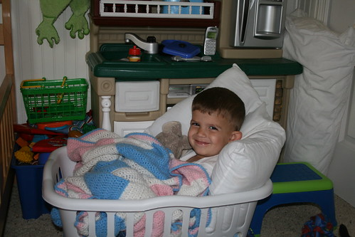 Z in laundry basket