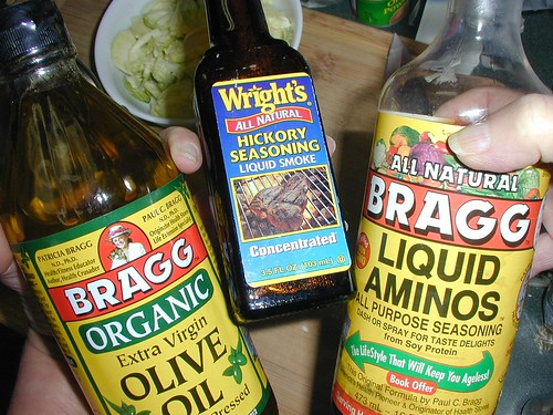 Bragg EVOO, Hickory Seasoning, Bragg Liquid Aminos