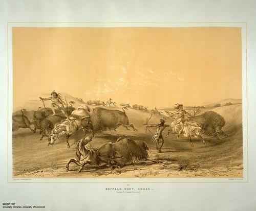 002-Caceria de bufalos-George Catlin 1875-1877