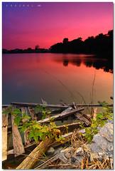 Putra Heights Secret Lake 01 (SHAZRAL) Tags: pink blue sunset sky beauty canon eos colorful filter malaysia height selangor cokin gradual tokina1224mmf4 p121 450d gnd8 theme azralfikri shazral sky landscapelakepoolputra