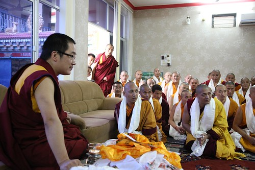 His Holiness Karma Kuchen Rnipoche Advises the Three-Year Retreat Grads