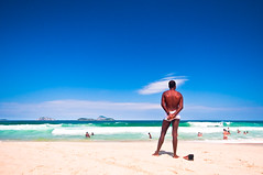 Rio Life Style [4] (Paula Marina) Tags: brazil man praia beach rio brasil mar rj wave homem carioca xxxx leblon onde contemplao almacarioca soulcarioca paulamarina