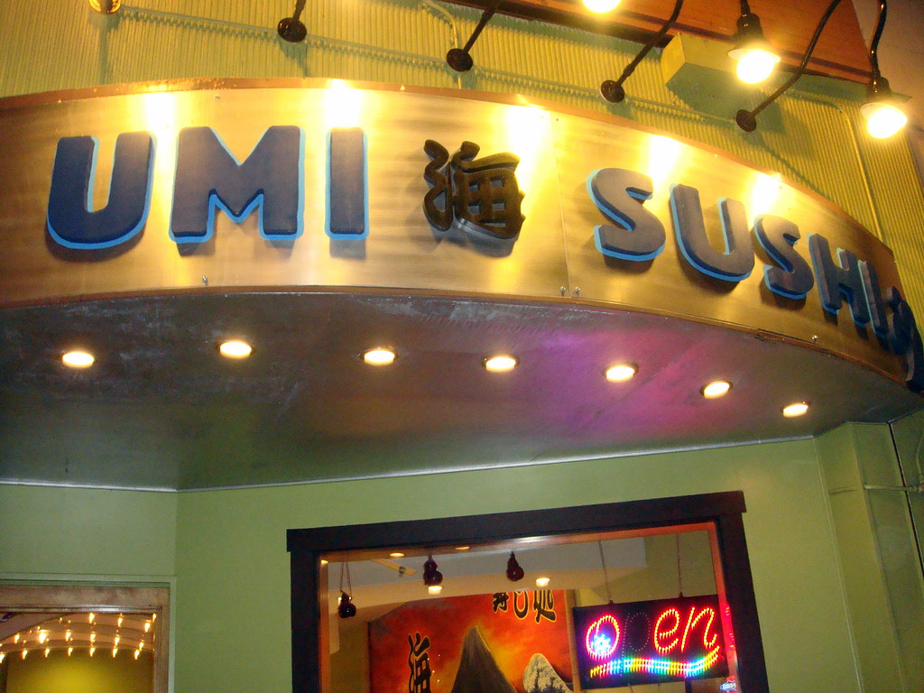 Umi Sushi at night