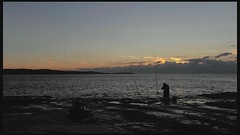 Fishing for God Beams (alexkess) Tags: sea sky cliff seascape beach water sunrise timelapse video nikon sydney australia nsw hdr cronulla godbeams kurnell botanybaynationalpark theshire sutherlandshire d700