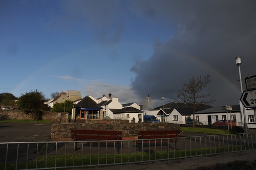 Rainbow on Bowmore Distillery