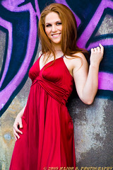 APG - Heather - Jubilation (BlazinBajan) Tags: bridge atlanta red woman cute beautiful canon hair model downtown pretty grafitti dress redhair esp reddress xsi mbp apg canonef75300mmusm 450d elliottstreetpub atlantaphotographersguild majorbphotography apg051209 apg05122009