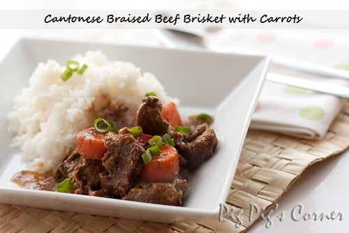 Cantonese Braised Beef Brisket with Carrots