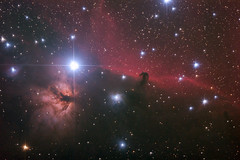 """""""Horse head"""" and """"Flaming tree"""" nebulae (igorfp) Tags: sky horse cloud hot tree night star belt colorful head space gas telescope nebula astrophotography orion astronomy plasma universe complex flaming cosmos horsehead nebular constellation deepspace hydrogen celestial shimmer astrophoto emission nebulae halpha b33 orionsbelt orionbelt Astrometrydotnet:status=solved competition:astrophoto=2009 Astrometrydotnet:version=11264 Astrometrydotnet:id=alpha20090528997415"""