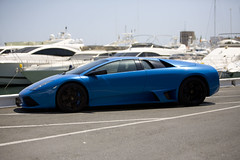Lamborghini Murcielago LP640 (Stephen Hayes) Tags: blue spain lp lamborghini 65 puertobanus murcielago v12 lambo 640 lamborghinimurcielago lp640 lamborghinilp640 murcielagolp640 lamborghinimurcielagolp640 bluelamborghini murcielagobluelamborghinimurcielagolp640 lp640lambo lp640blue