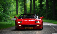 F355 Spider. (Denniske) Tags: trees red green nature netherlands field canon rouge eos spider is dof bokeh 10 05 may nederland convertible ferrari spyder 09 f l 10th 28 mm rood rosso 70200 2009 depth f28 ef jumbo cabriolet f355 noordbrabant the 355 northbrabant lseries llens veghel rt exclusief of 40d