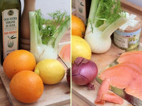 Fenouil, agrumes & saumon fumé