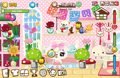 Pet Society: Tea Leaf + Bedroom (Milkdoll (Moved to new account!)) Tags: pink game cute love bedroom kawaii facebook tealeaf petsociety