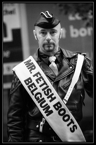 Mister Fetish Boots (chando*) Tags: gay brussels man leather beard ...
