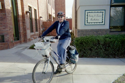 Longmont cycling mailman