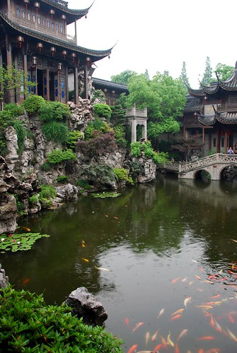 the courtyard, rich guy's house in hangzhou