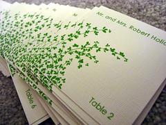 alexandra & keith's wedding placecards