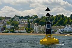 Gurnard (Chalto!) Tags: sea cloud buildings cardinal mark north solent buoy gurnard buoyant