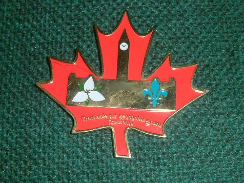 Back of the Canada's Capital Cachers Geocoin