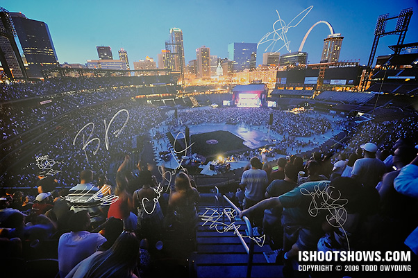 Dave Matthews Band signed my print