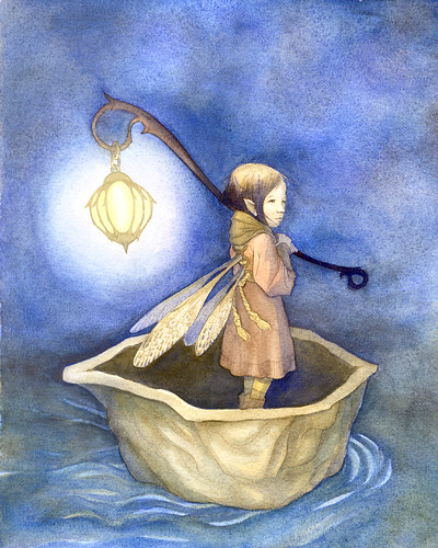 Fairy Watercolor - Drifting