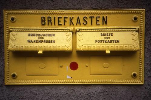 Arnstadt Postamt. Briefkasten  Aug 1991