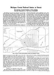 Michigan Central Station Article page 1 (mcsdetroitfriend) Tags: michigan detroit trains depot 1914 preservation michigancentralstation otiselevatorcompany historicaltext railwayagegazette johnsmanvillecompany