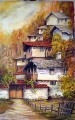 2/  The colors of autumn2 (stanka_deneva) Tags: house art painting landscape village bulgaria           stanka:site=show