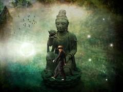 ocean of truth (Eddi van W.) Tags: light texture love self creativity energy handmade buddha digitalart gimp buddhism inner textures creativecommons ritual meditation spirituality spiritual deepness psychology kreativität spiritualität eddi07 graphicmaster