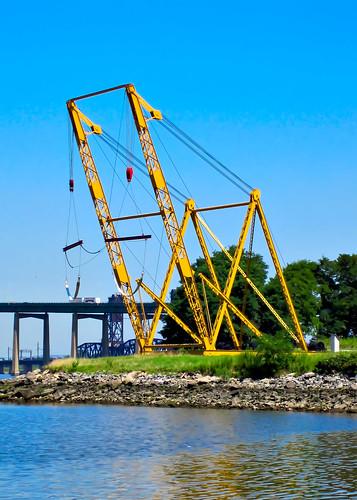 big yellow winch/crane thing