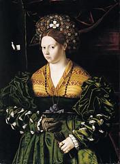 Bartolomeo Veneto, Portrait of a Woman in Green