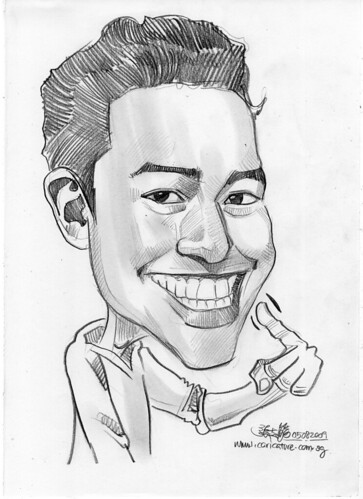 guy caricature in pencil 050809