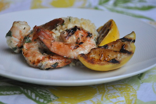 Lemon-Oregano Grilled Jumbo Shrimp