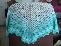 spindle spun calais shawl